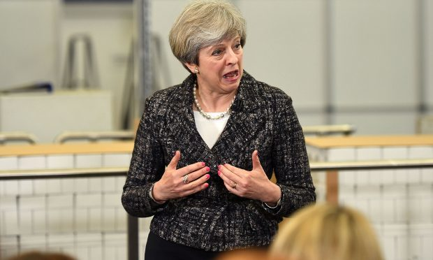 Theresa May gives a speech at GSK (Leon Neal/Getty Images)