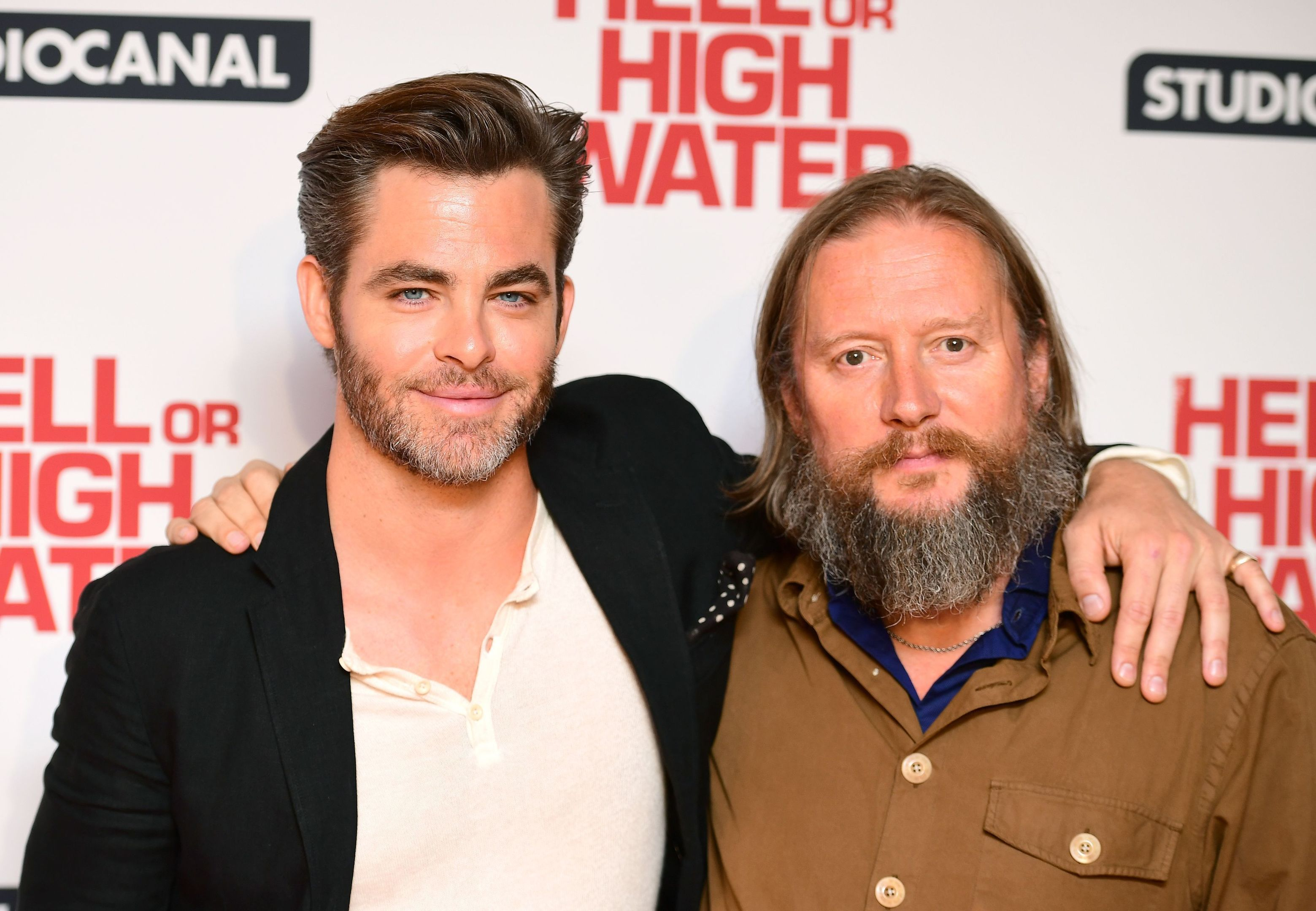 Chris Pine and director David Mackenzie (PA)