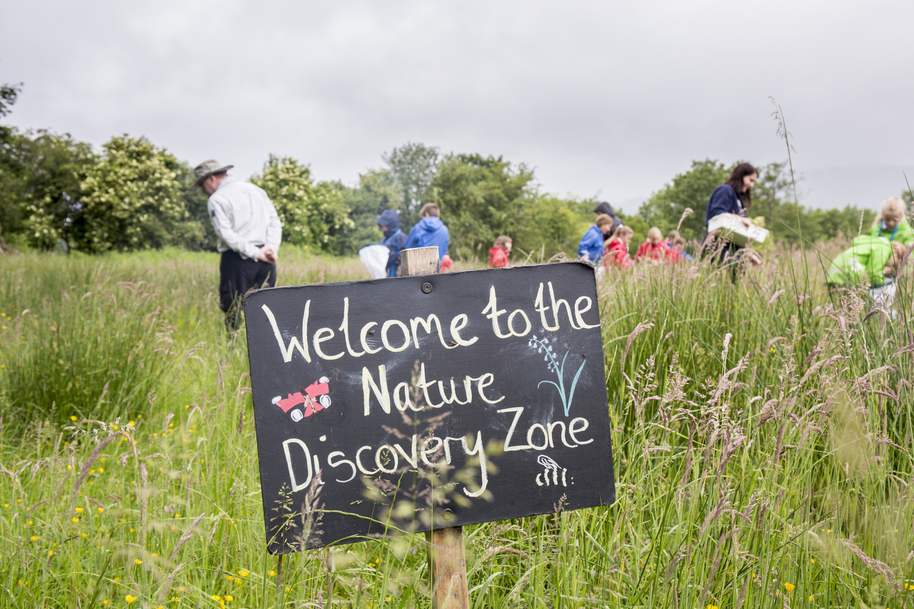 Children from Gartocharn Primary School at the Nature Discovery Zone at the RSPB Loch Lomond (David Palmar)