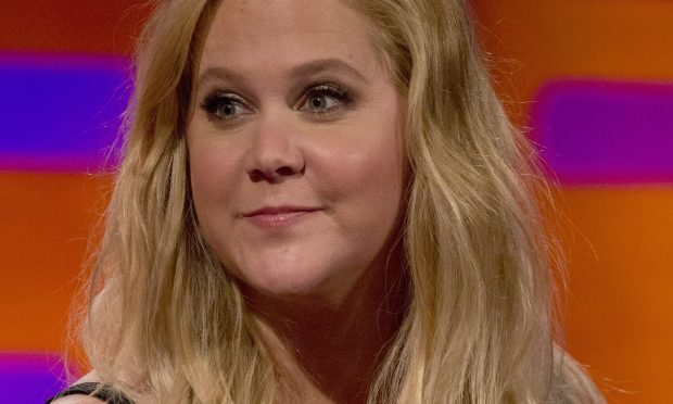 Amy Schumer during the filming of the Graham Norton Show (PA Images on behalf of So TV)