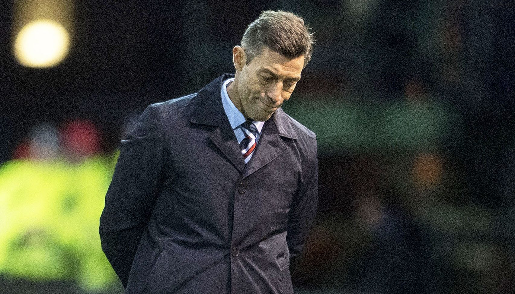 Rangers manager Pedro Caixinha at full time (SNS Group / Bill Murray)