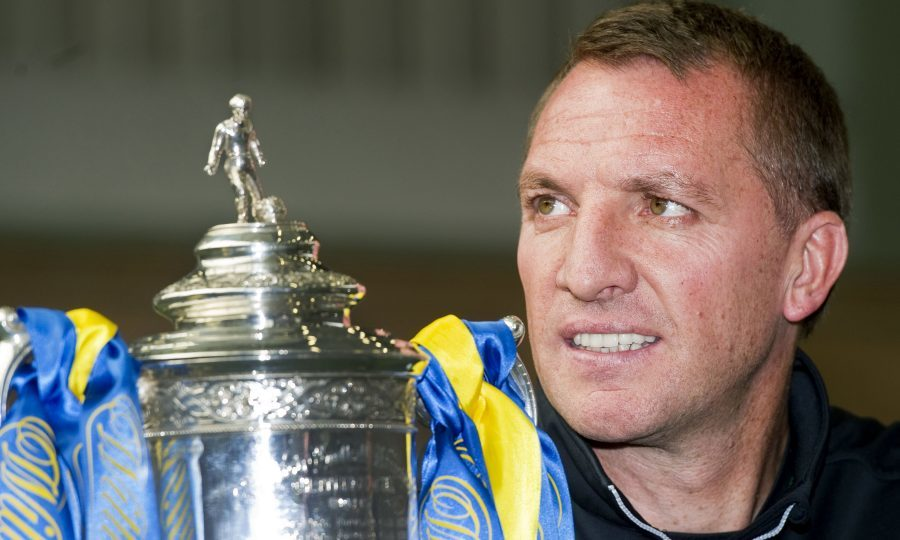 Celtic manager Brendan Rodgers previews their William Hill Scottish Cup semi-final against Rangers (SNS Group / Ross MacDonald)