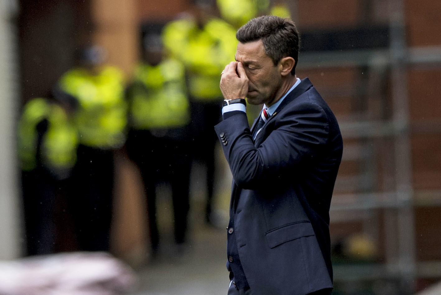 Rangers manager Pedro Caixinha is left dejected (SNS Group)