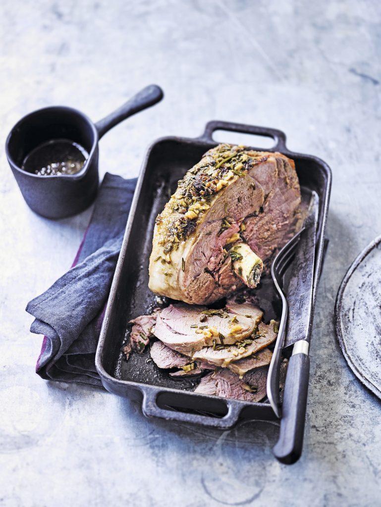 Slow-roast lamb with garlic_ honey & cumin