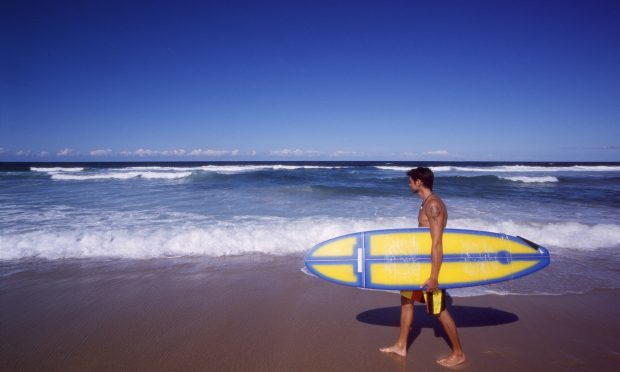Surfing on the Gold Coast (Getty Images)