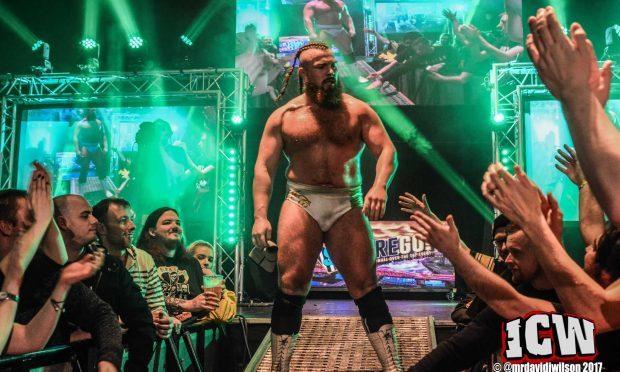 Wrestler Joe Coffey (ICW / David James Wilson)