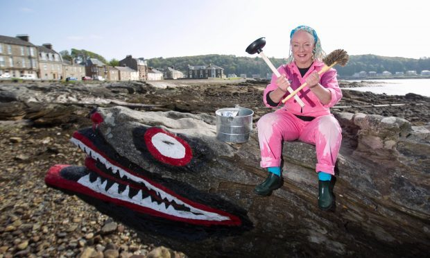 Suki McGregor took over the maintenance of the public toilets on Cumbrae when the council said they could no longer afford the upkeep (Chris Austin / DC Thomson)