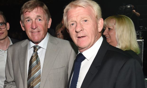 Former Celtic player Kenny Dalglish and Scotland manager Gordon Strachan