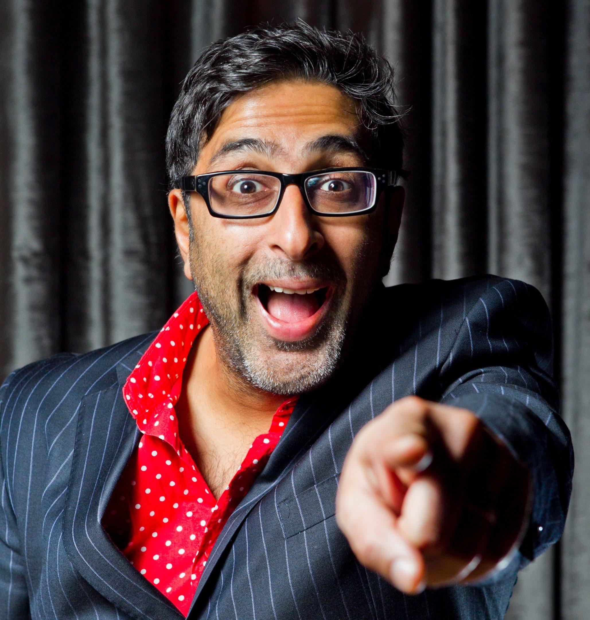 Still Game star Sanjeev Kohli will host the Street Party arena at Edinburgh's Hogmanay (Andrew Cawley)