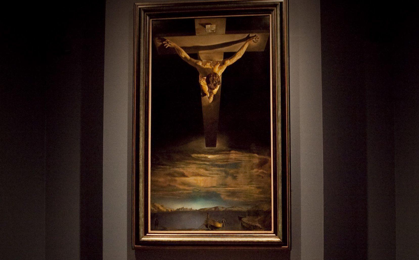 Salvador Dali's iconic Christ of St John of the Cross (Johnny Mclauchlan / Universal News and Sport)