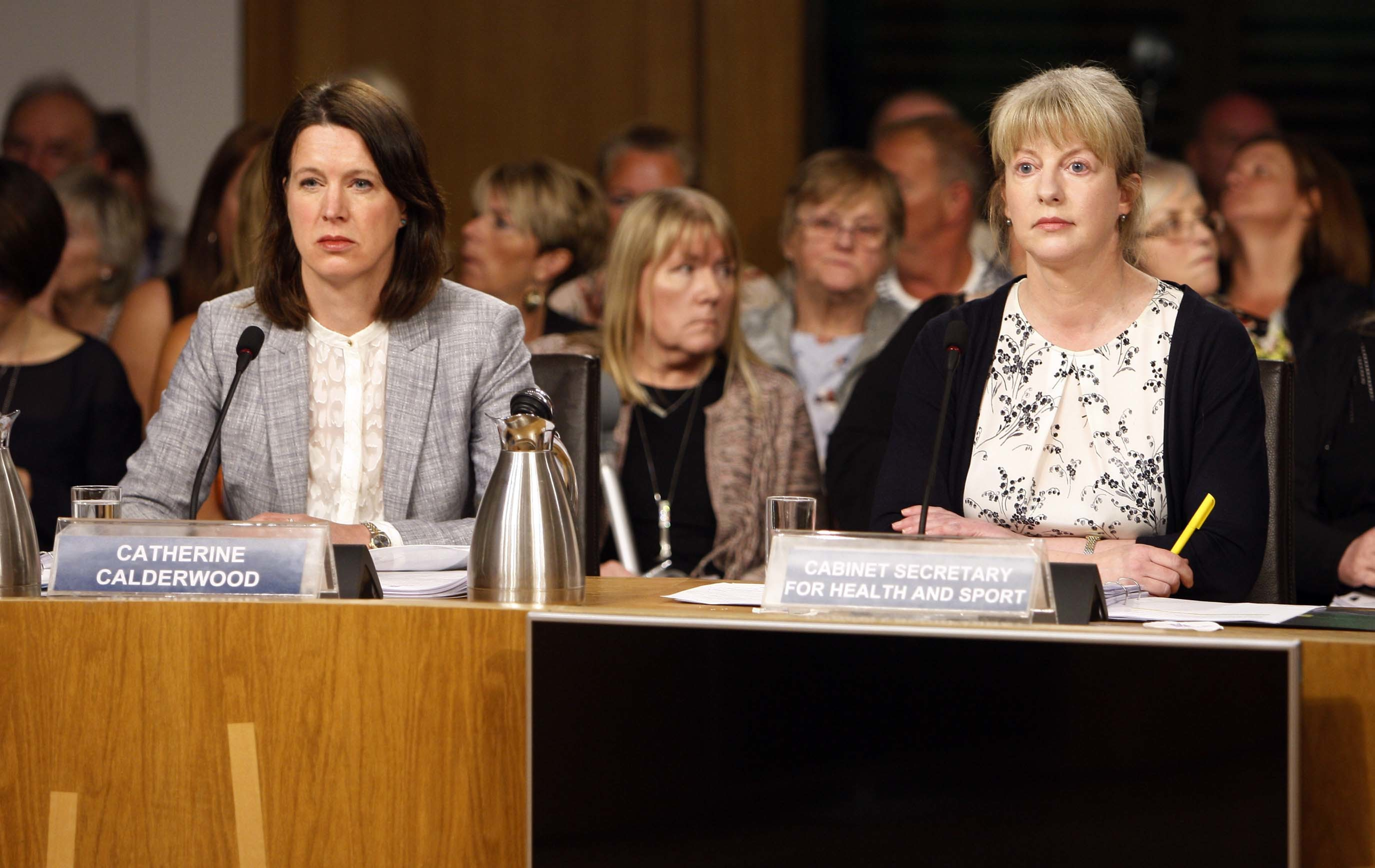 Health Secretary Shona Robison (left) appears before the Public Petitions Committee (Andrew Cowan/Scottish Parliament)