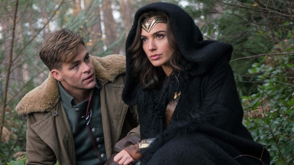 Chris Pine as Captain Steve Trevor and Gal Gadot as Wonder Woman (Clay Enos/Warner Bros./PA Wire )