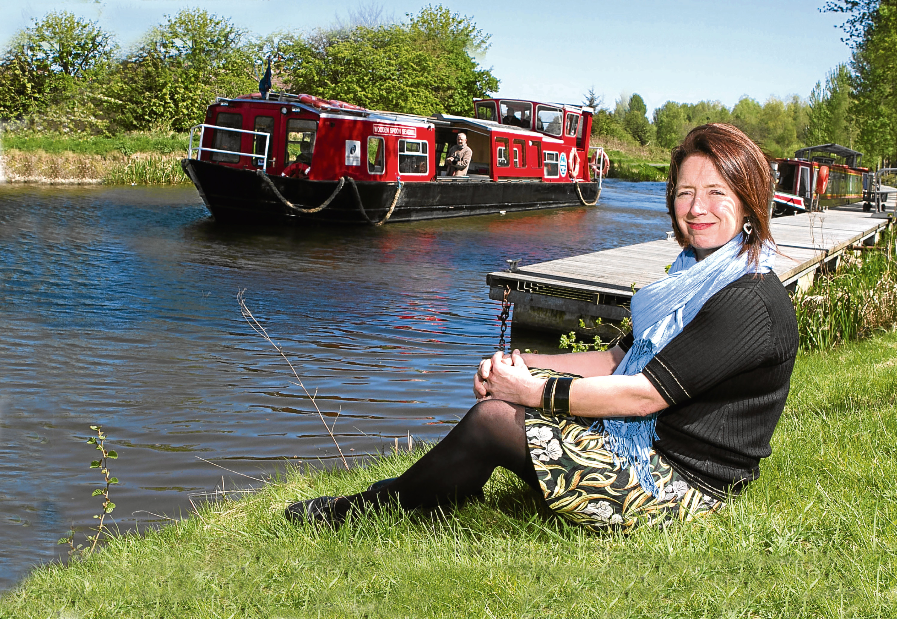 Artist Lesley Banks has been Scottish Canals' resident artist and has a show called Gongoozler at Callender House in Falkirk (Chris Austin / DC Thomson)