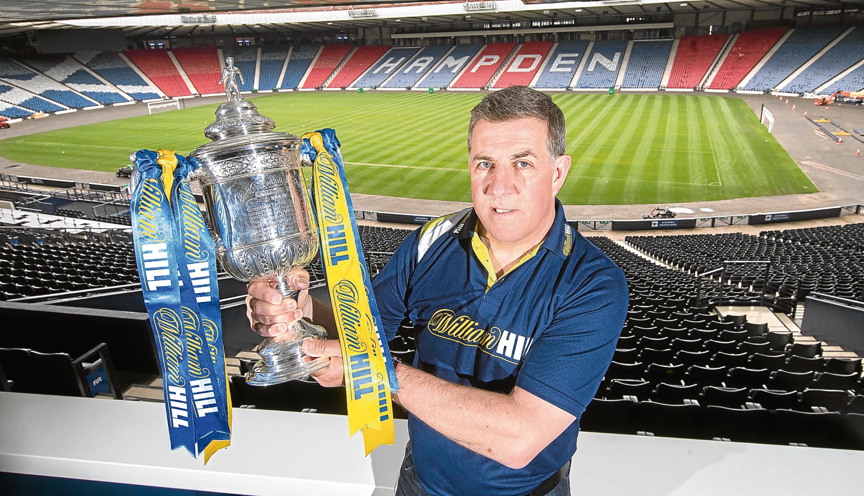 Former Aberdeen manager and Celtic striker Mark McGhee at Hampden (Steve Welsh)
