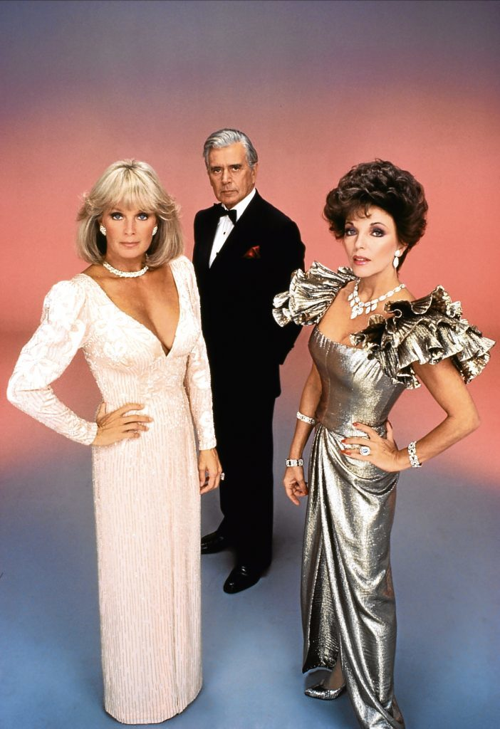 With Linda Evans and John Forsythe in Dynasty (Allstar/AARON SPELLING PROD.)