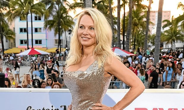 Pamela Anderson at the Baywatch premiere (Jason Koerner/Getty Images)