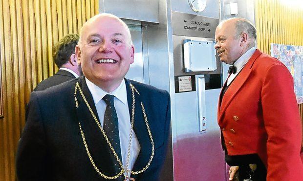 New Aberdeen Lord Provost Barney Crockett (Jim Irvine / Press and Journal)