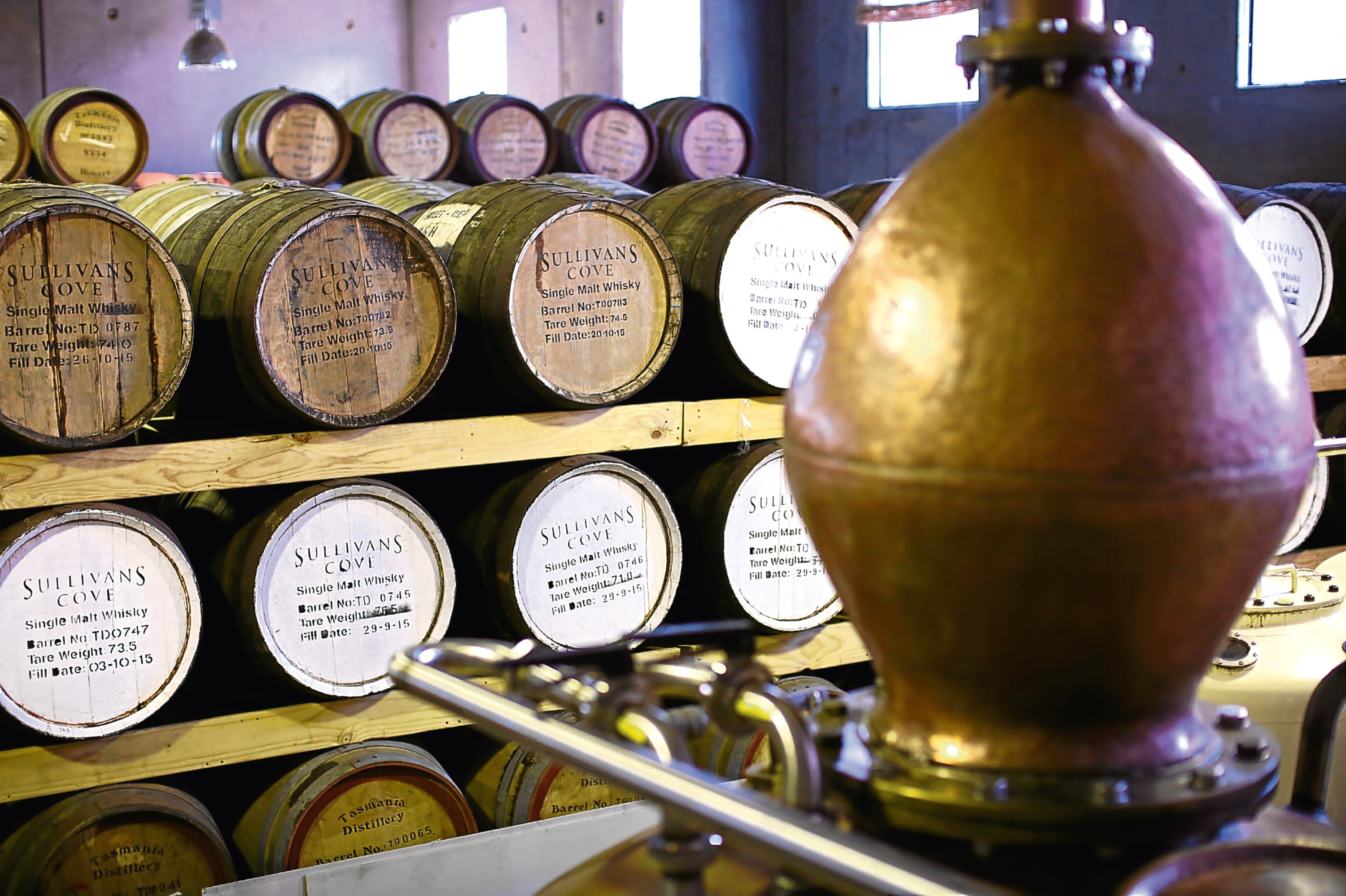 Whisky barrels (Mark Kolbe/Getty Images)