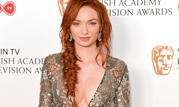 Eleanor Tomlinson poses in the Winner's room at the Virgin TV BAFTA Television Awards (Jeff Spicer/Getty Images)