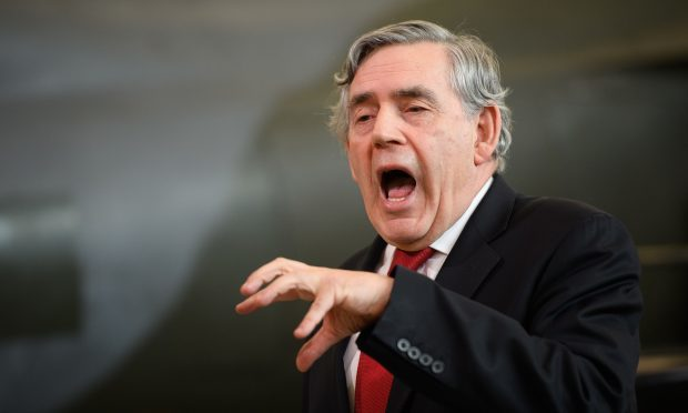 Former British Prime Minister Gordon Brown addresses Labour supporters (Leon Neal/Getty Images)