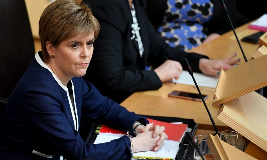 Scotland's First Minister Nicola Sturgeon attends First Minister's Questions at the Scottish Parliament (Jeff J Mitchell/Getty Images)