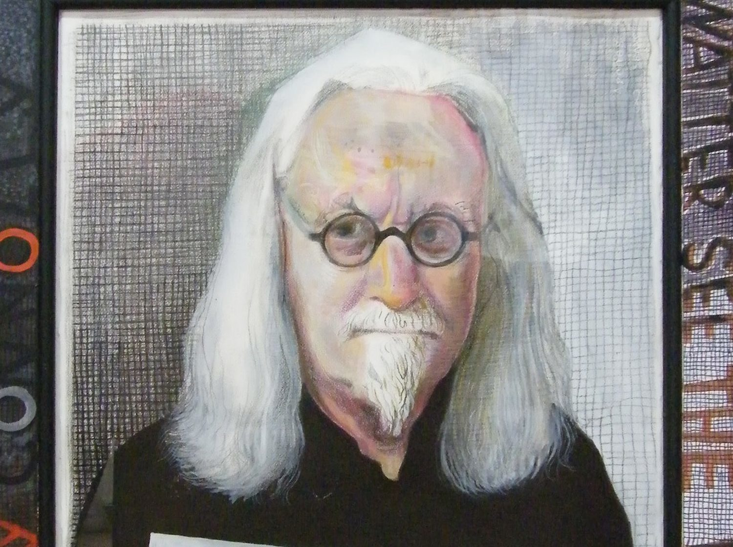 John Byrne's portrait of Billy Connolly. It is one of three artworks portraying the comedian by top Scottish artists which will go on display on walls dotted across Glasgow city centre (Jack Vettriano/PA Wire)