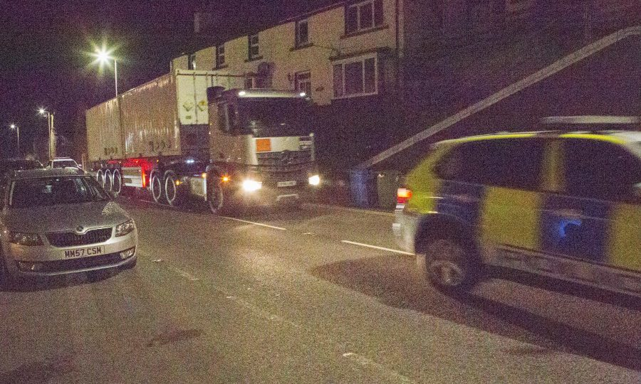 The second lorry carrying two containers (Robert MacDonald / Northern Studios)