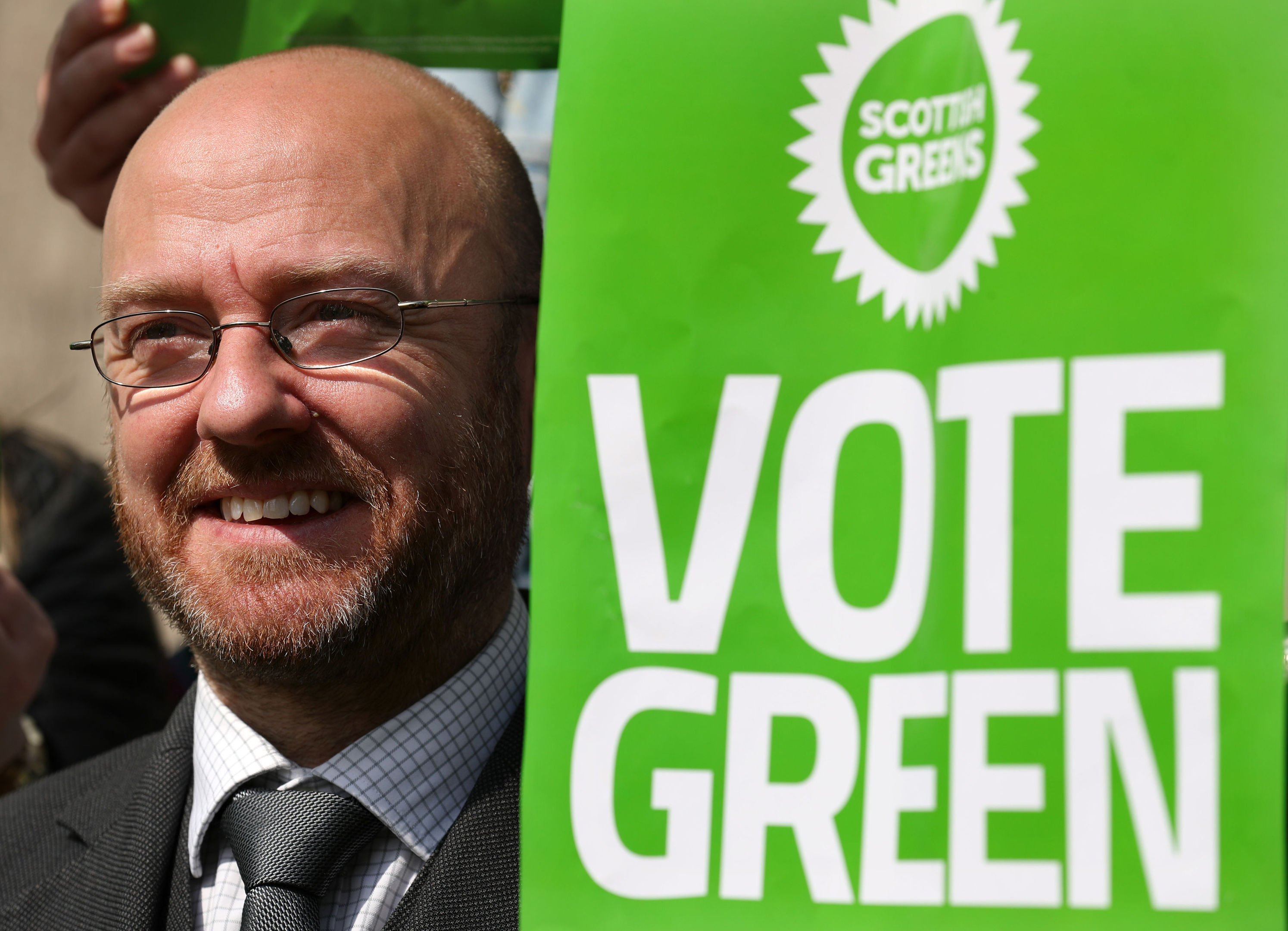 Green party co-convener Patrick Harvie at the launch of Scottish Greens Glasgow North General Election campaign (Andrew Milligan/PA Wire)