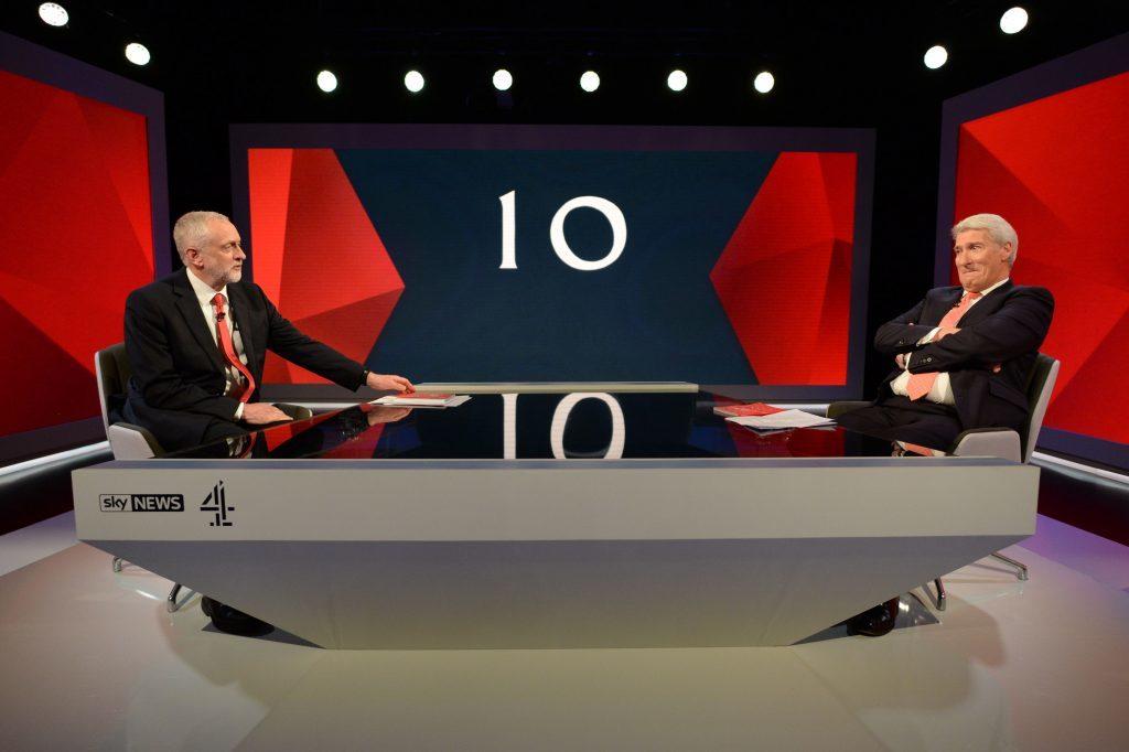 Labour leader Jeremy Corbyn is interviewed by Jeremy Paxman