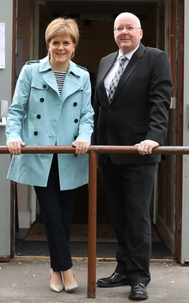 Party leaders cast their votes in Scottish council elections ...