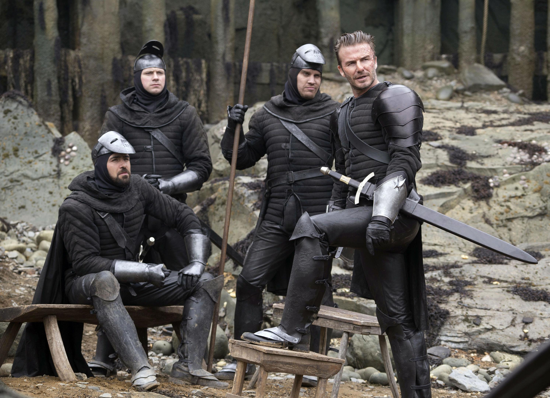 "David Beckham in a scene from, ""King Arthur: Legend of the Sword."" (Daniel Smith/Warner Bros. Pictures via AP)"