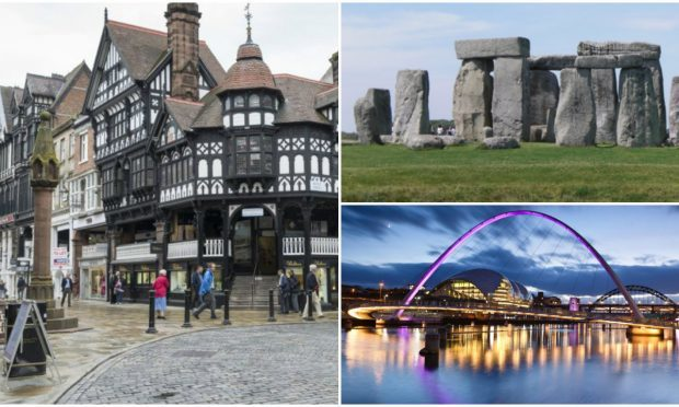 Cheap and easy ways to travel to the likes of Chester, Newcastle and Stonehenge