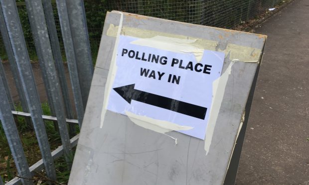 Local council election polling station (Ross Crae/DC Thomson)
