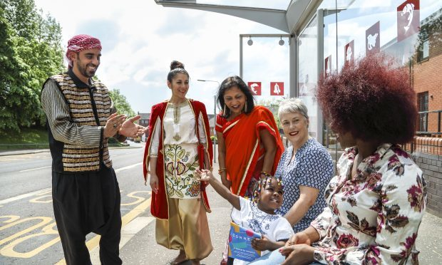Refugee Festival Scotland performers chat to producer Eleanor Harris (Iman Tajik