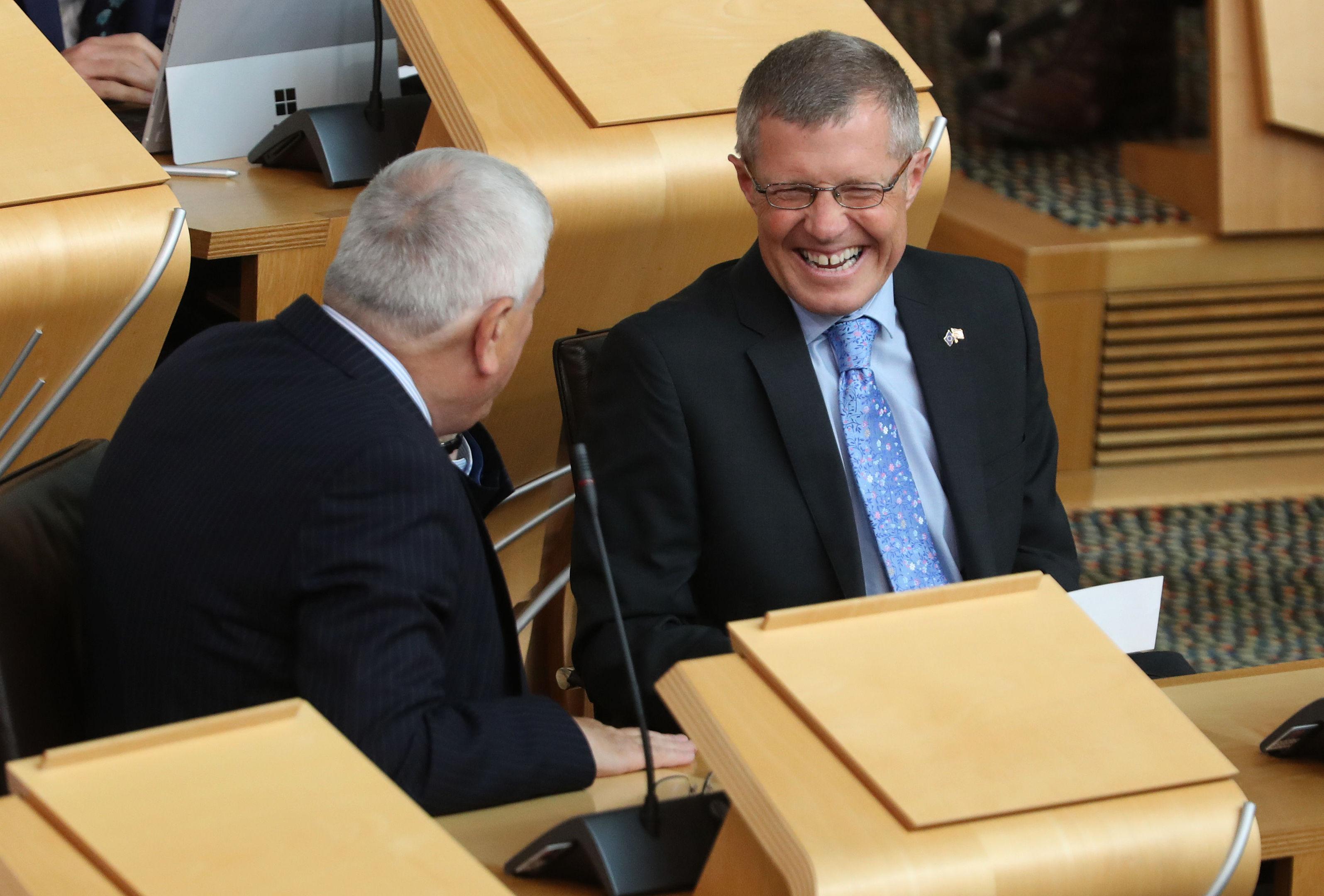 Scottish Liberal Democrat leader Willie Rennie during FMQs (Andrew Milligan/PA Wire)