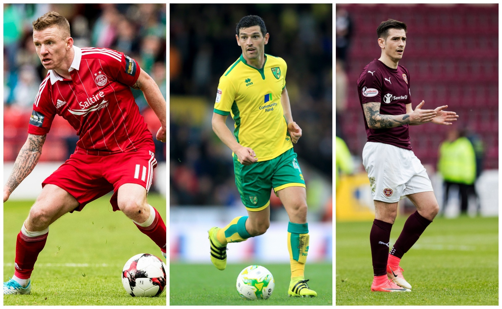 Jonny Hayes, Graham Dorrans and Jamie Walker have all been linked with moves (SNS Group / PA Archive)