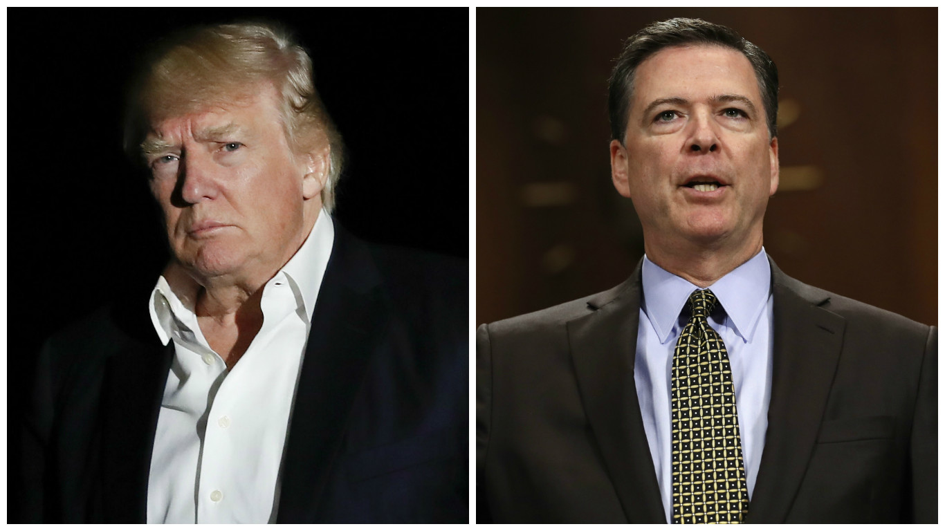 Donald Trump fired Comey (PA)