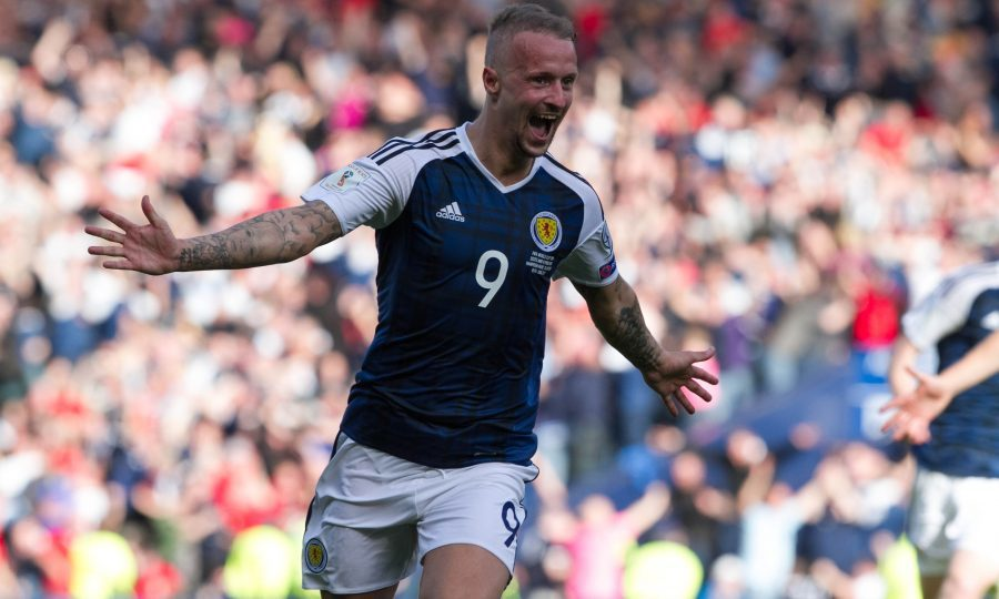 Leigh Griffiths celebrates