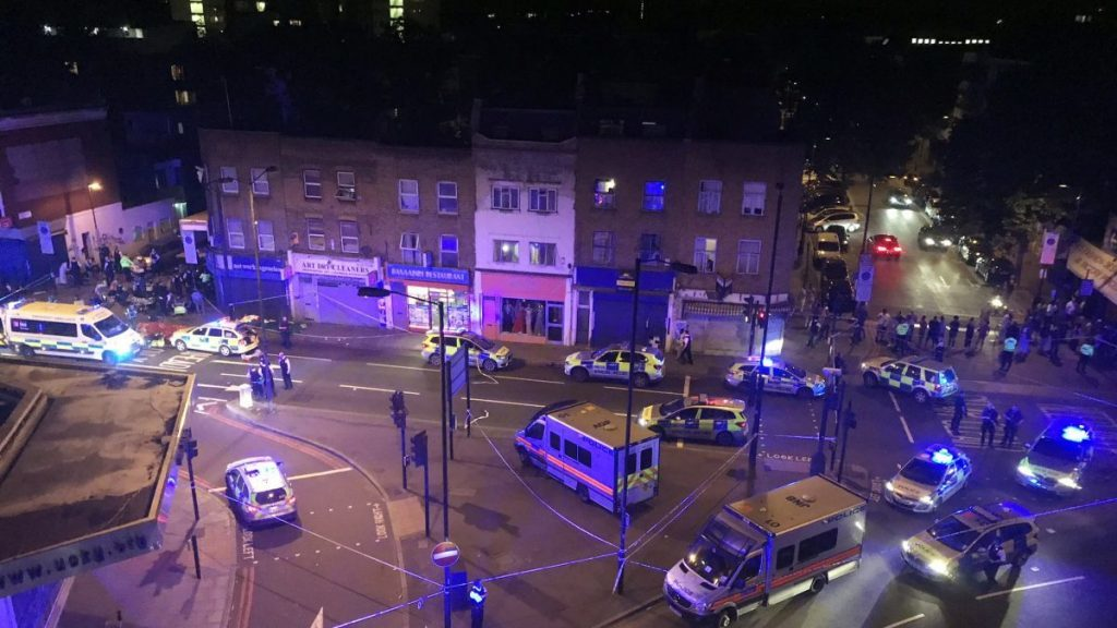 Aftermath of attack near London mosque