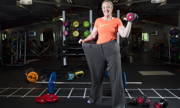 Annette Rankin who has lost a huge amount of weight since starting a fitness programme - she is now going to be competing in a weightlifting competition. (Andrew Cawley)