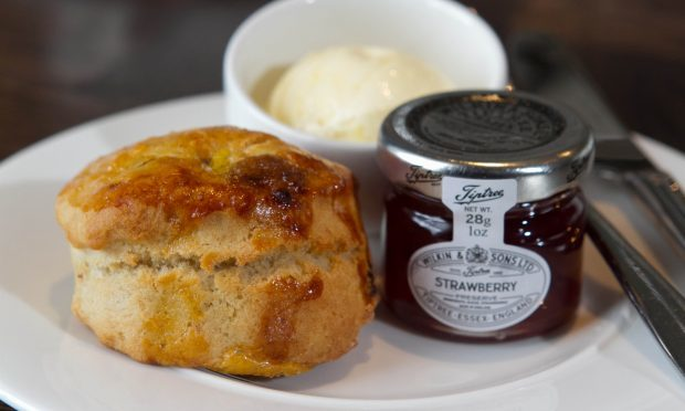 A delicious Scone at Blythswood (Chris Austin / DC Thomson)