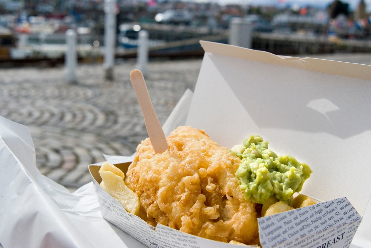 You deserve a treat today.. mushy peas are optional