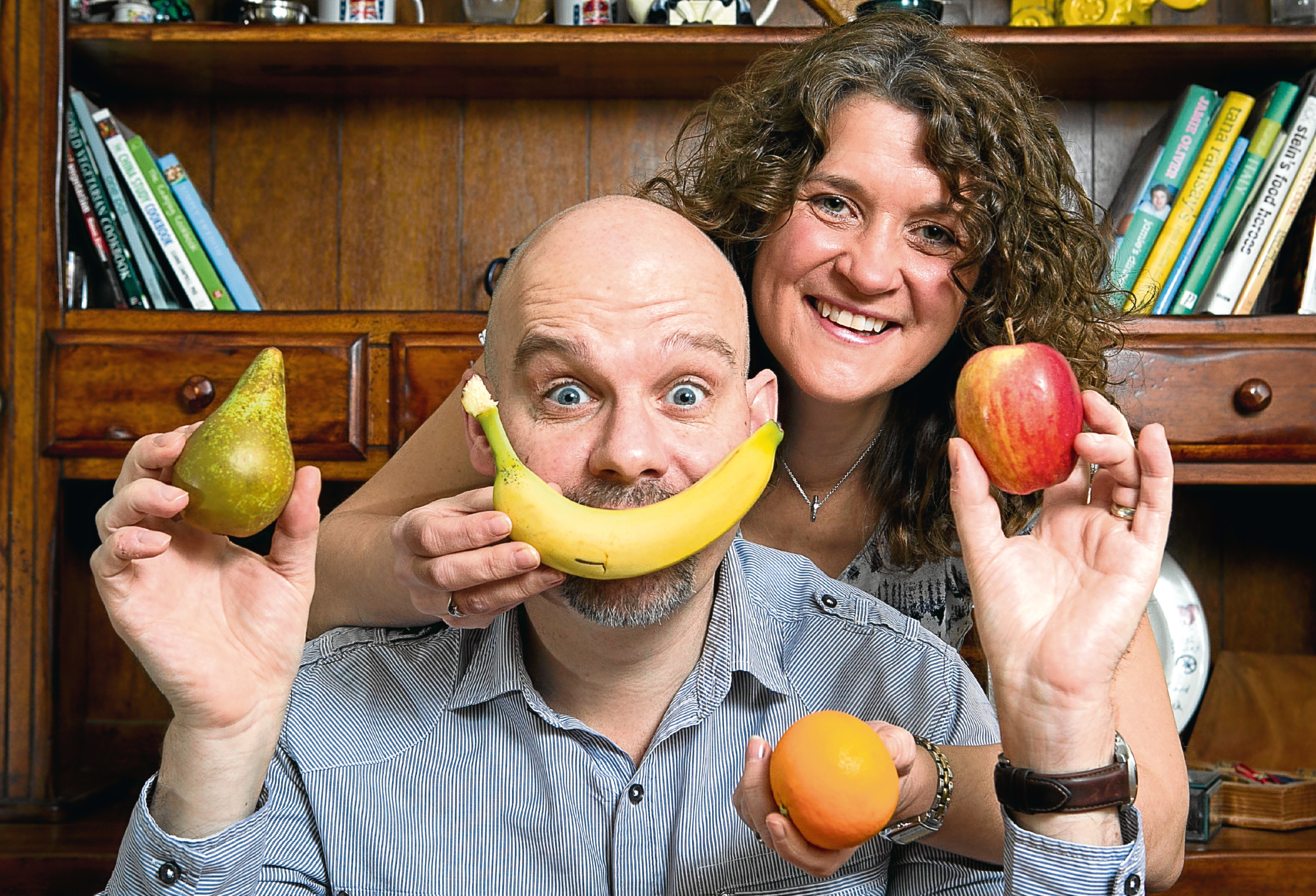 Richard and Louise Blanchfield, who have developed a healthy cook book with recipes which helped Richard (Andrew Cawley / DC Thomson)