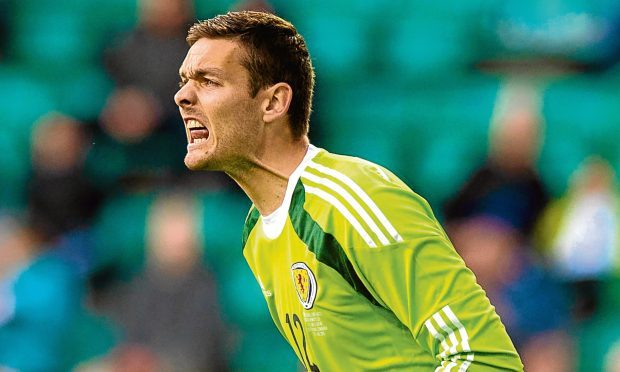 Celtic keeper Craig Gordon in action for Scotland (SNS Group)