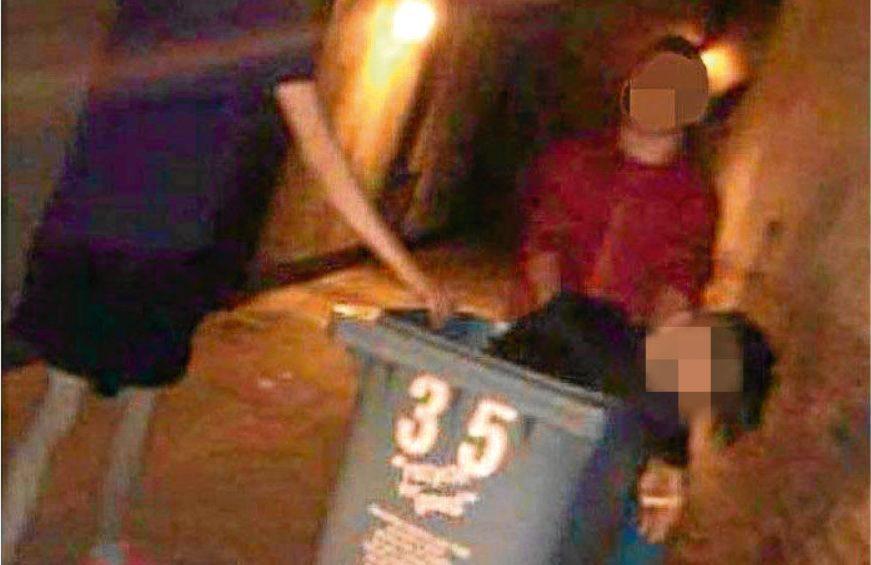 Chris Gorman, who was left in a wheelie bin by friends when he was drunk (Facebook)