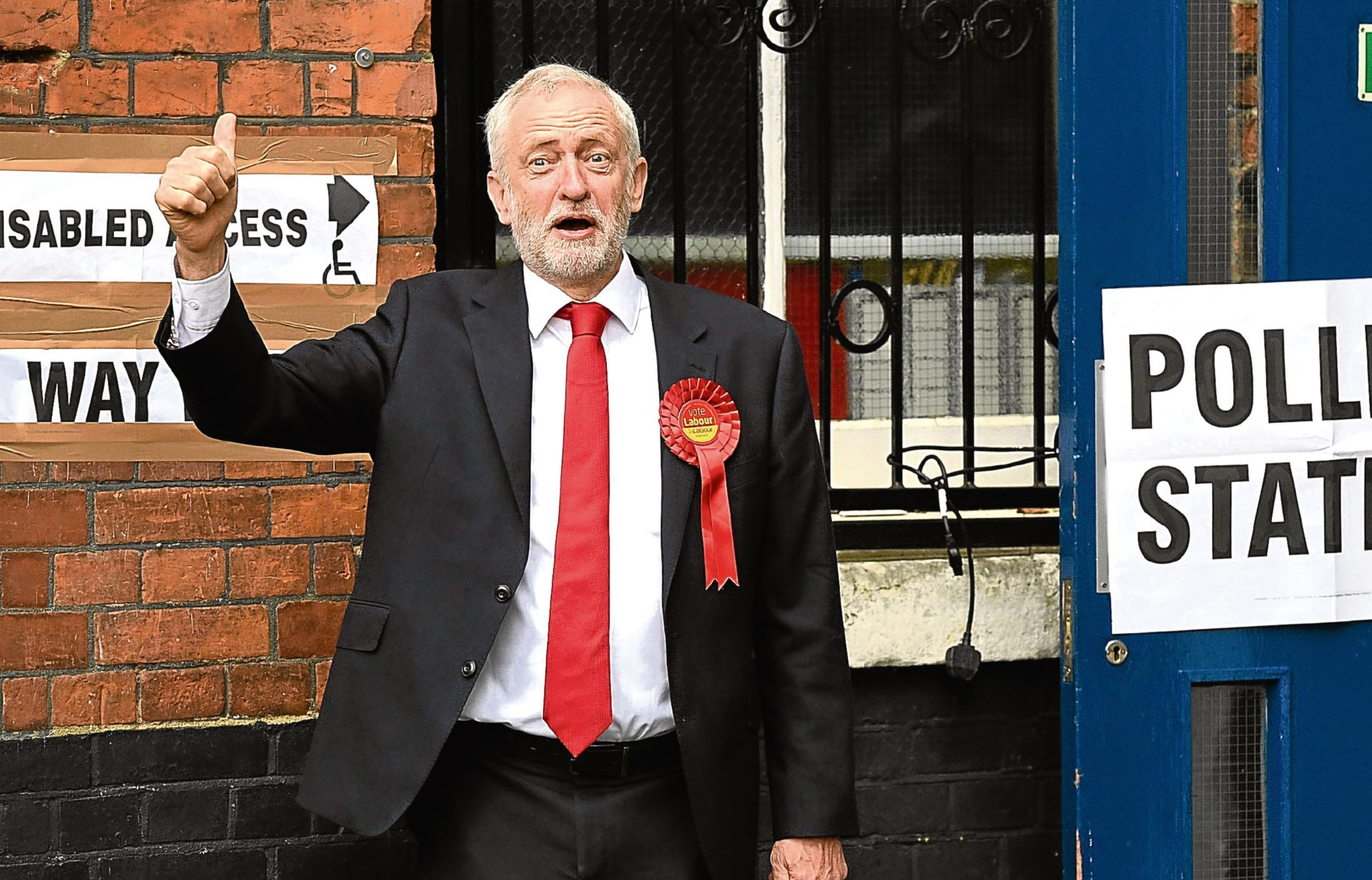 Labour party leader Jeremy Corbyn casts his vote at a polling station (Leon Neal/Getty Images)