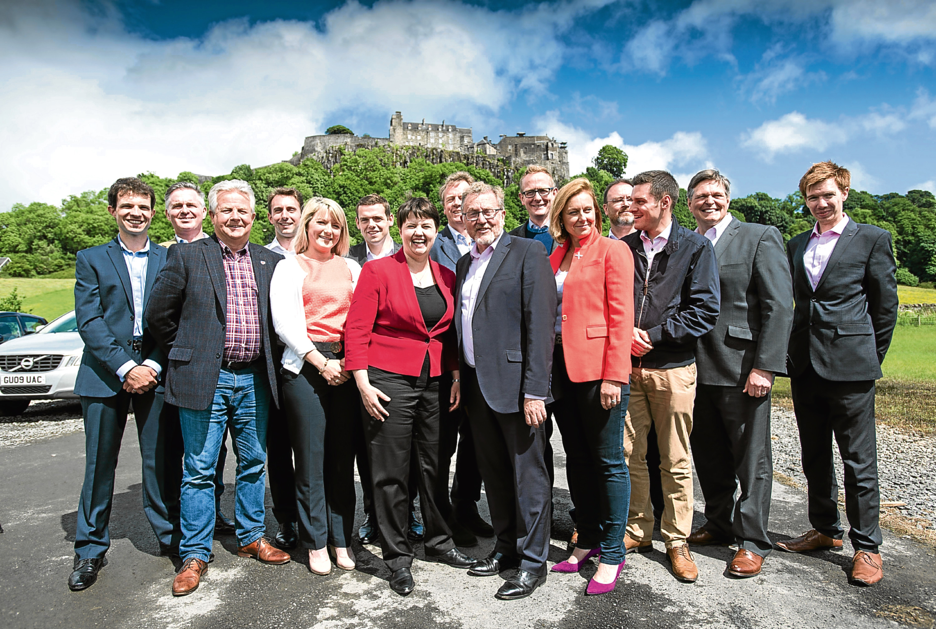 Scottish Conservative Party Leader Ruth Davidson posed today (Saturday) with her 13 Members of Parliament who won their seats at the General Election (Wattie Cheung)