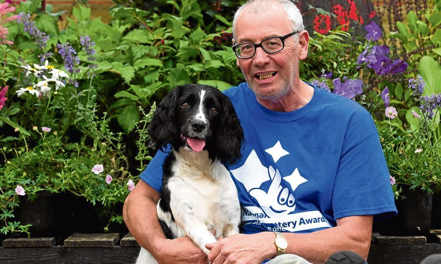 Jimmy was given Bracken by charity Bravehound, to help with his post traumatic stress disorder. (Andrew Cawley, Sunday Post)