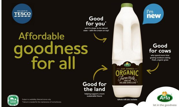 """An advert for Arla organic milk which has been banned for using the """"misleading"""" claim that its production is """"good for the land"""". (Advertising Standards Authority/PA Wire)"""