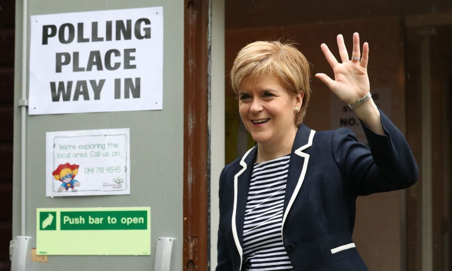 Election a disaster for PM May: Sturgeon
